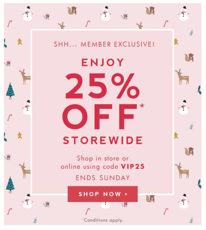 Discount email example