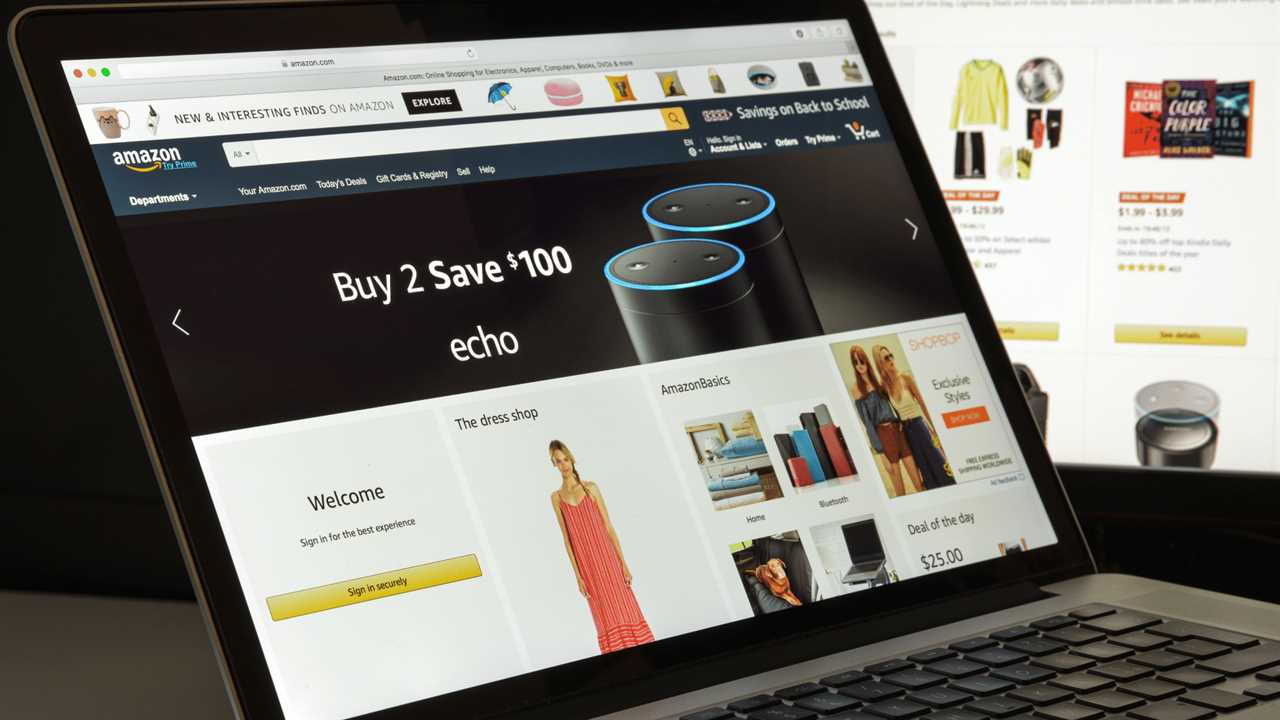 predictive marketing on the Amazon homepage